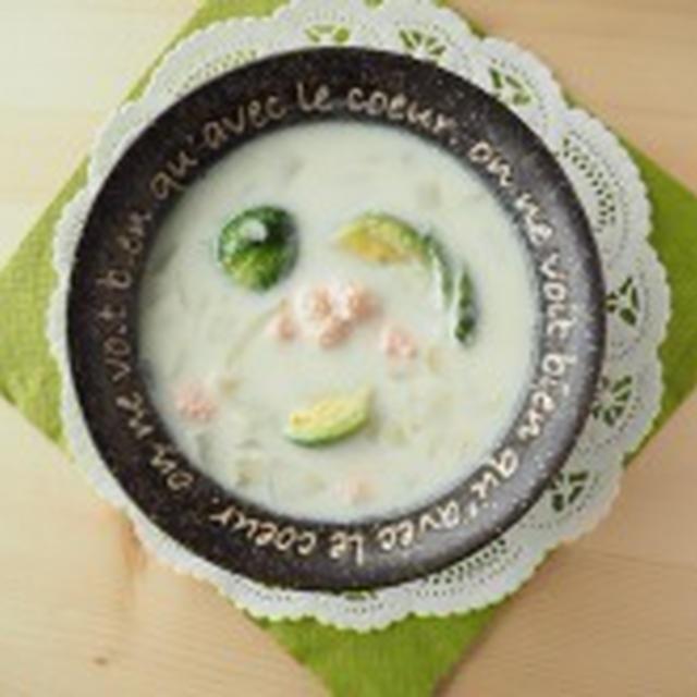 芽キャベツとたらこのミルクスープ