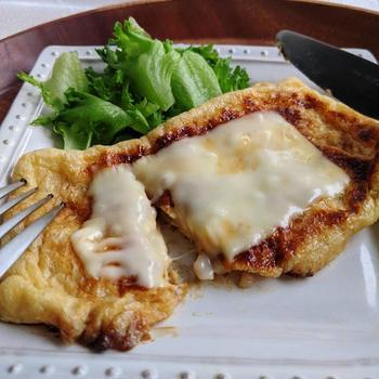 薄揚げのお餅挟み焼き チーズのっけ(10min)