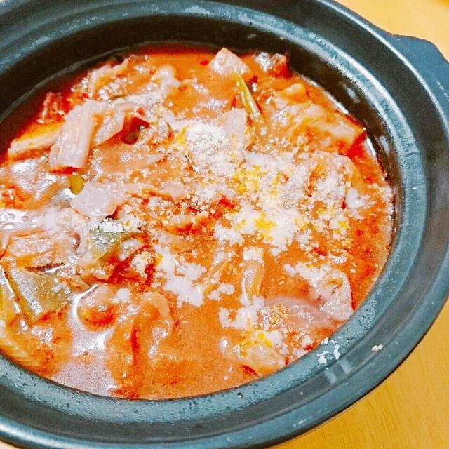キャベツトマト鍋