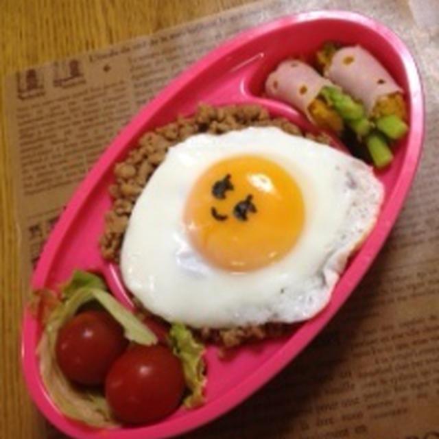 そぼろご飯のワンプレートランチ弁当(大豆ミート使用)