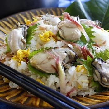 みょうがの甘酢漬け ~の 蒸し牡蠣とみょうがのちらし寿司 (レシピあり)