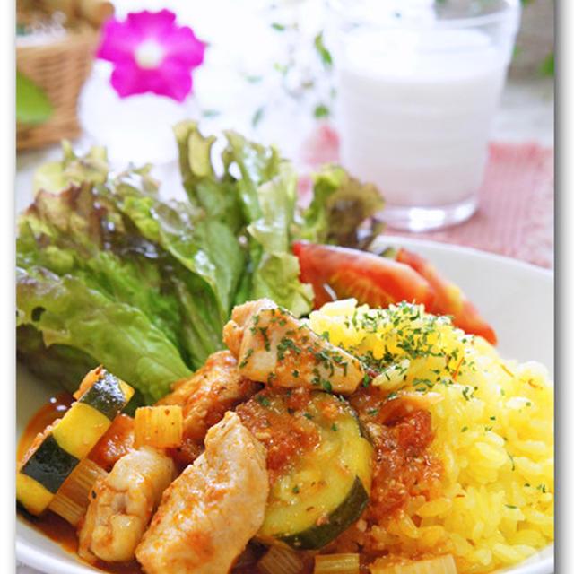 チキンとズッキーニのヨーグルトトマト煮 &ノースショア