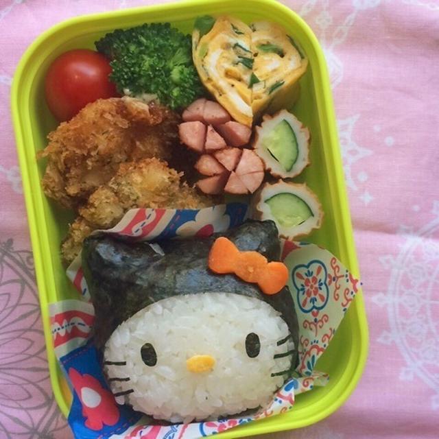 幼稚園弁当☆世間はハロウィンモードになってきましたね~!黒猫キティ キャラ弁