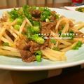 【recipe】牛こま肉ともやしの味噌炒め by りょうりょさん