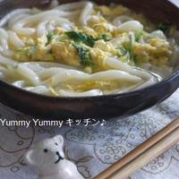 水菜のかき玉うどん&雑炊♪サントネージュ賞賞品届きました~