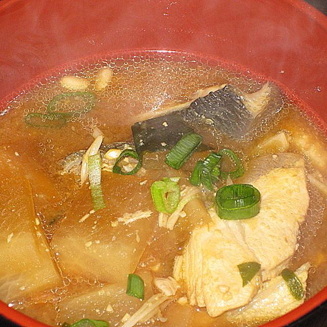 ぶりアラの味噌汁