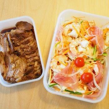 お友達と持ち寄りランチパーティー・・・いつもの煮豚と夏にさっぱりマリネ!!!