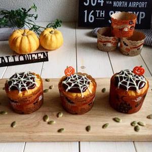 ハロウィンまで待てない!簡単かわいい♪かぼちゃのカップケーキ
