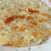 玉ねぎのチーズチヂミ