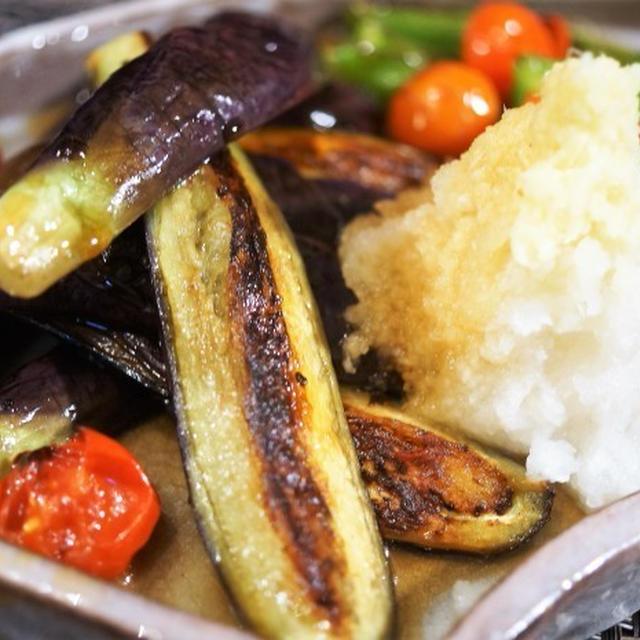 ■簡単5分!!菜園料理【茄子とピーマンの揚げ浸し2種のご紹介です♪】