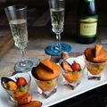 QBチーズが高級な味に? 燻製ムール貝のトマト&パプリカソース添え と スモークチーズ by 青山 金魚さん