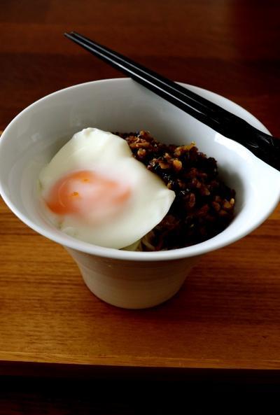 豚肉と高菜漬けの辛麺