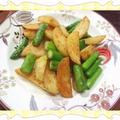 春を先取り!新じゃがとアスパラガスのバター炒め(レシピ付) by kajuさん