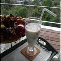 林檎と生姜のフルブラで クラッシュドゼリーのミルクティー&リキュール