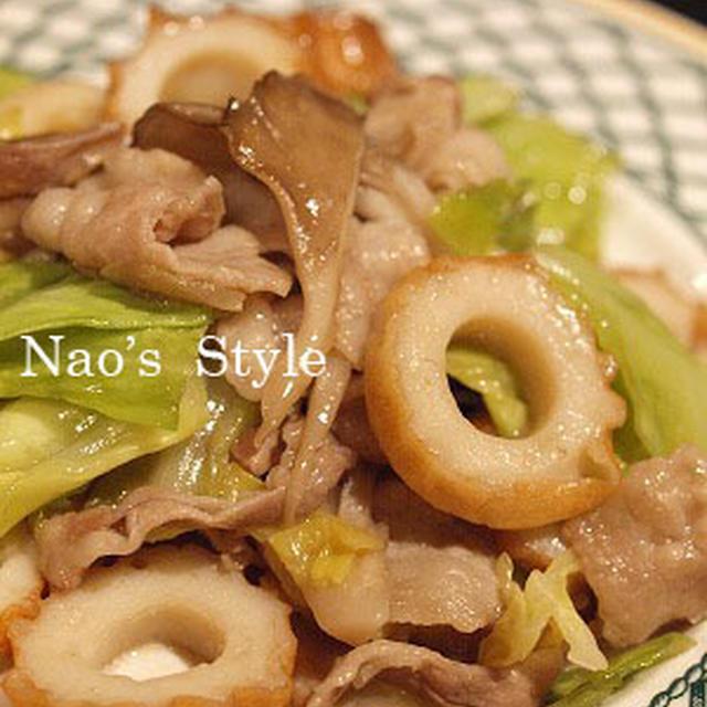 豚肉と舞茸とキャベツの炒め物♪