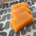 完熟した柿の水羊羹
