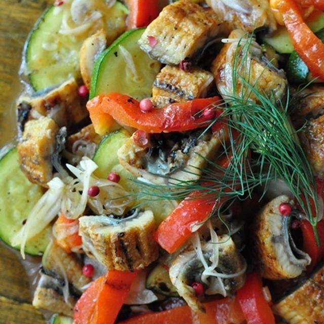 鰻のかば焼きのカラフルマリネ