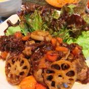 豚肉のトマトバルサミコソテー