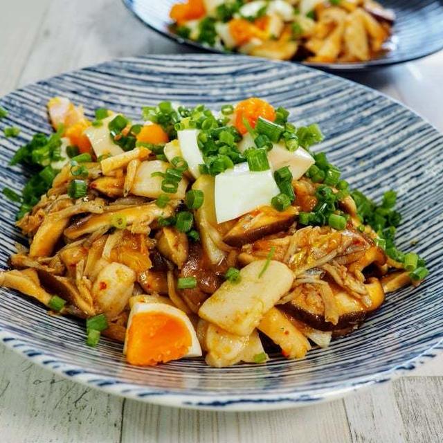 【ホタテとしらすのサンバル丼】冷蔵庫のありあわせ料理が、夏のおもてなし料理になりました。