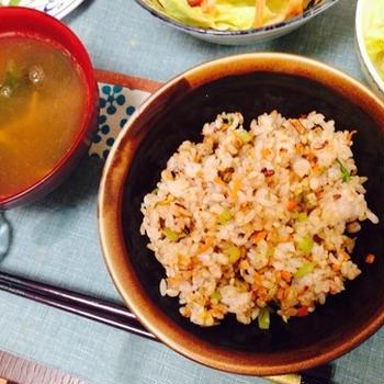 ノンオイル♪玄米チャーハンのレシピ