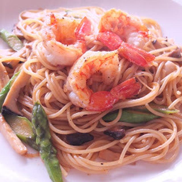 海老のソテー スパゲッティ
