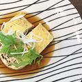 優しいお味のヘルシーレシピ・・鶏ひき肉の高野豆腐入り湯葉巻き蒸し by pentaさん