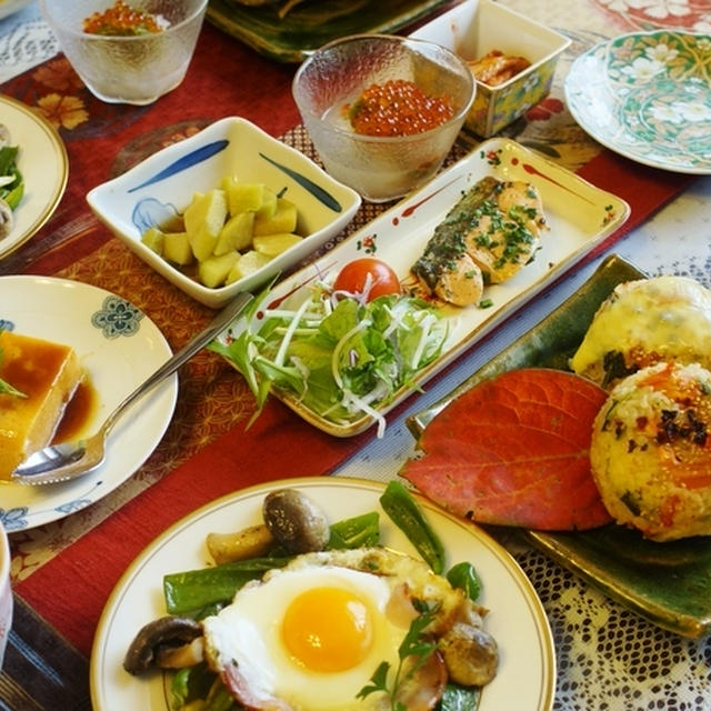晩ご飯に続きまして 翌日の【朝ご飯フルコースのご紹介です♪】
