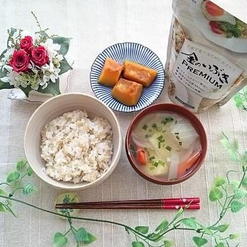 宮城県のブランド玄米「金のいぶき」をいただきます♡