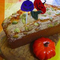手作り餡入り ハロウィン♡ポピーたっぷりなかぼちゃパウンドケーキ♪