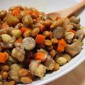 残った節分豆で♡鶏軟骨と根菜の甘辛炒め煮