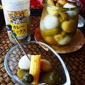カレーミックスソルトと、ピクルスの残り液で、超簡単夏バテ防止のうまい 常備菜  カレー風味ピクルス  #スパイス  #pickles #金魚の肴