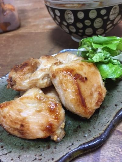鶏胸肉の味噌焼き