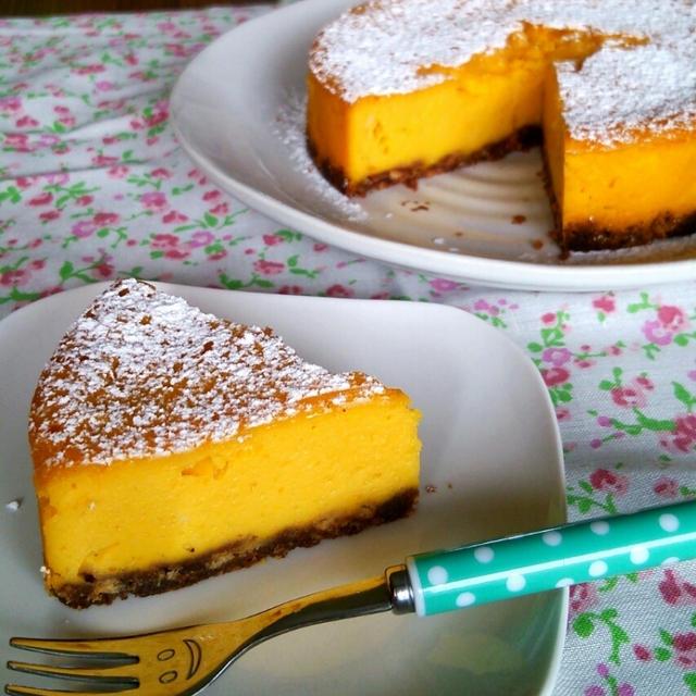 しっとり濃厚★かぼちゃのチーズケーキ♡クリチ・生クリーム不使用☆~顔写真