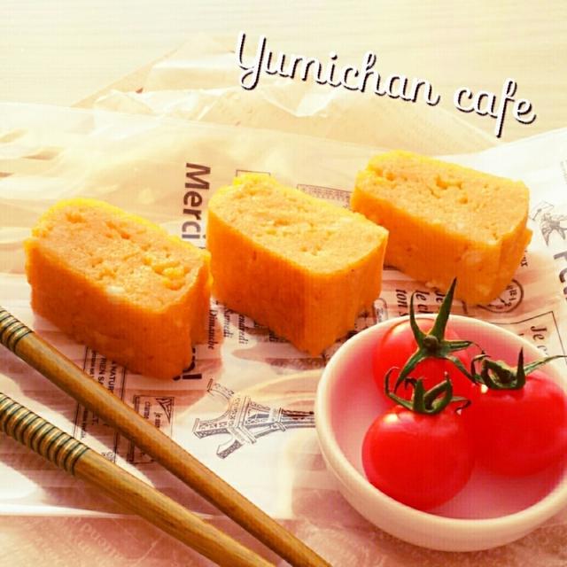 ♡ふわやわ♪おこちゃま用♡甘い厚焼きたまごの作り方♡【~おやつ*簡単*ふわふわやわやわ~】