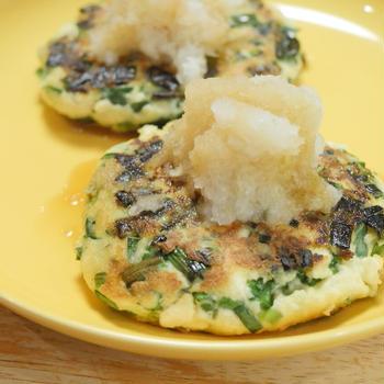 【レシピ】ポン酢でもマヨソースでも合う「ネギニラ豆腐ハンバーグ」肉無し米粉で作る。ヘルシー月間な妻娘にも好評