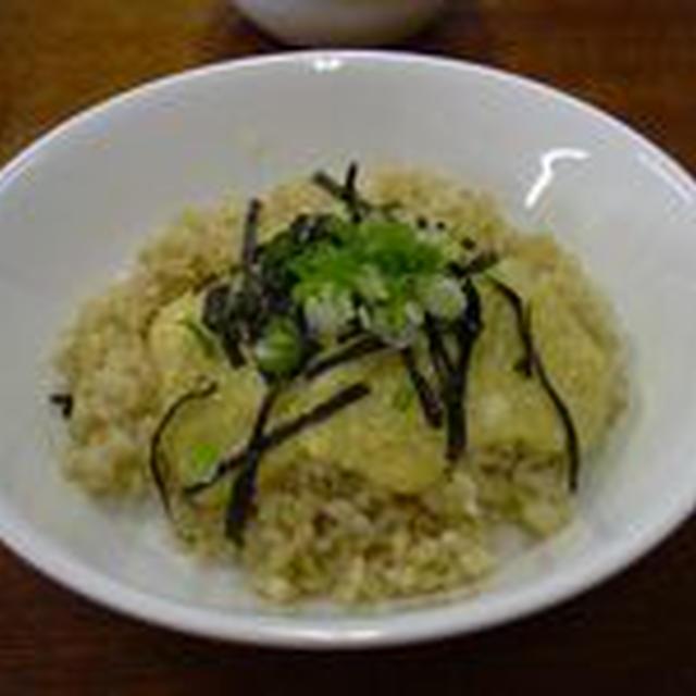 もちきびの卵かけ風ご飯