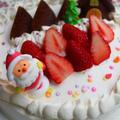 クリスマスみたいな7歳のバースデーケーキ♡