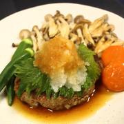 和風豆腐ハンバーグ♪ ~自家製の夏みかんポン酢で!~