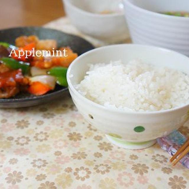 寒い日の晩ごはんに◆揚げない黒酢酢豚とマルちゃん正麺の定食