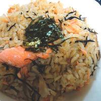 【レシピ】サーモンとひじきの炊き込みご飯~お肉が入らなくても旨い~