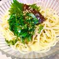 めっちゃうま!簡単!大葉のうめぇーゴマ豆乳パスタ! by ぷーはるひゅうさん