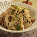 【キレイママレシピ】牛肉・豆苗・新ゴボウ・新タマネギのオイスター炒め