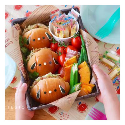 ピクニックにぴったり♪おやつチーズ&わんこサンドイッチ♪