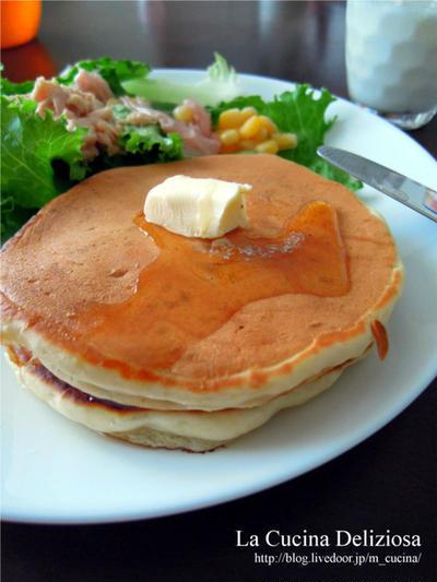 酵母で作るパンケーキ、きのこと豚肉の炒め物、酢豚