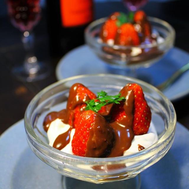 苺のチョコパフェ