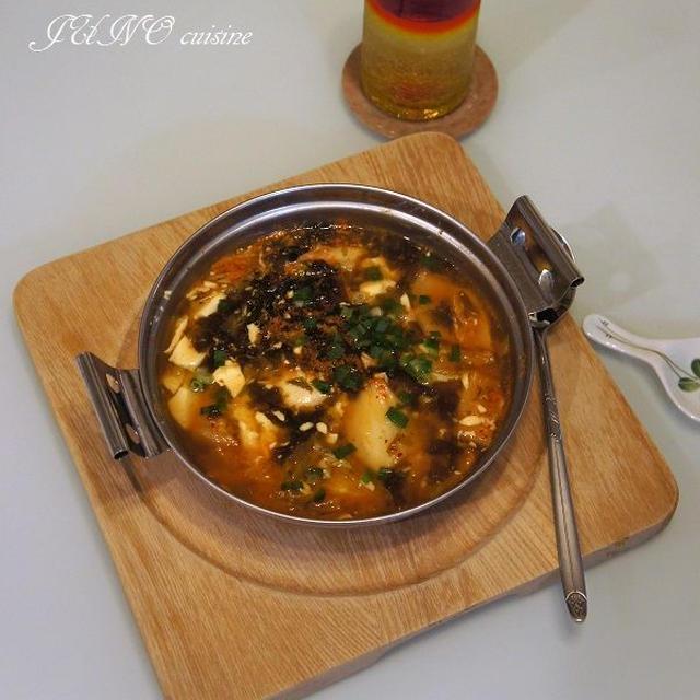 【鍋を愛する1週間】超簡単!おひとりさまレシピ☆豆腐チゲ風鍋☆