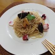 タコ&椎茸のペペロンチーノ