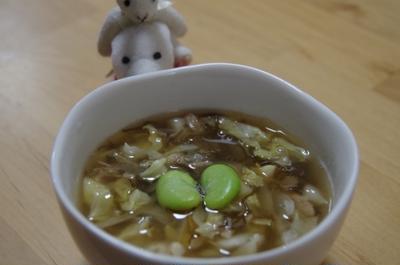 もずくとキャベツのスープ☆