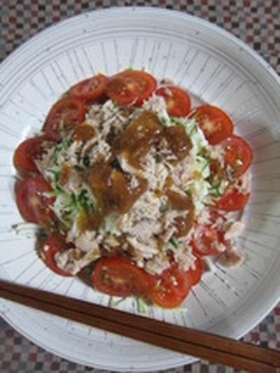 「ツナとキャベツの梅サラダ」
