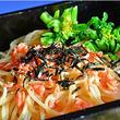 紅鮭とほうれん草のスパゲティ ☆ たらこクリーム